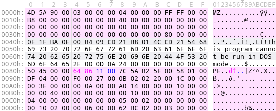 Fix PE magic numbers with malduck.